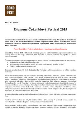 Olomouc Čokoládový Festival 2015