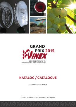 Katalog GRAND PRIX VINEX 2015
