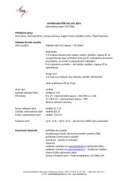 Metodický pokyn STK ČBA - Česká baseballová asociace