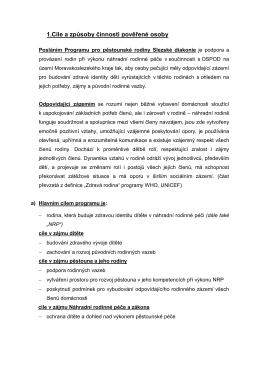 1.Cíle a způsoby činnosti pověřené osoby