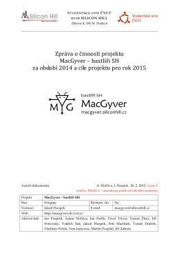 Zpráva za obodbí 2014 - MacGyver