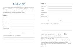 Arnika 2015