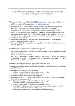 Úkoly PPP v systému podpory vzdělávací cesty dětí, žáků a studentů