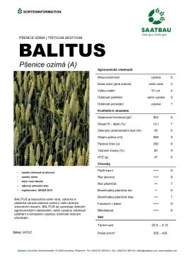 ozimá pšenice BALITUS
