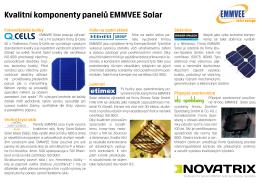Kvalitní komponenty panelů EMMVEE Solar Fotovoltaické buňky
