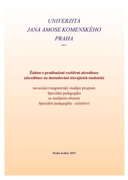ZDE - Univerzita Jana Amose Komenského Praha