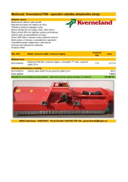 Mulčovač Kverneland FXN - speciální nabídka skladového stroje