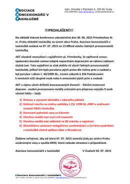 Prohlášení - 2015