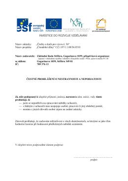 6. Příloha č.5 - Základní škola Stříbro
