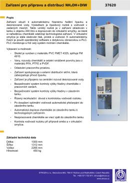 37620_C1 Zařízení pro přípravu čpavkového roztoku