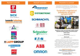Technické a legislativní požadavky strojních zařízení 2015