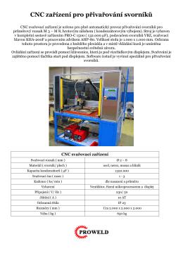CNC zařízení pro přivařování svorníků