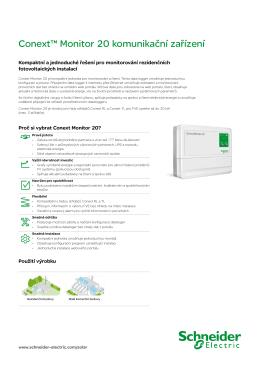 Conext™ Monitor 20 komunikační zařízení