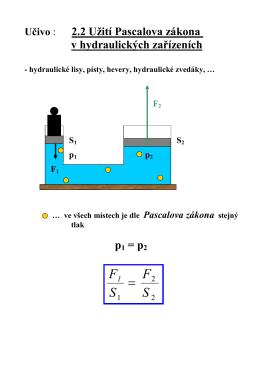 Využití hydraulických zařízení