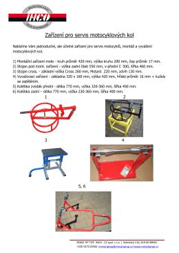 Zařízení pro servis motocyklových kol