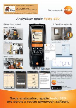 Sada analyzátoru spalin testo 320 pro servis a - ZAM
