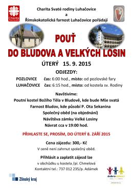 ÚTERÝ 15. 9. 2015 - Charita Svaté rodiny Luhačovice