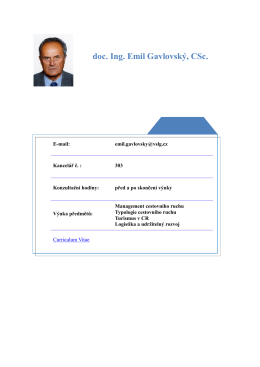 doc. Ing. Emil Gavlovský, CSc.