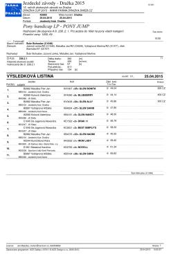 Výsledky závodů - JK Dražka
