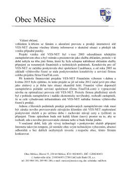 Co bude dál se sítí VES-NET?