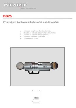DG25 Přístroj pro kontrolu úchylkoměrů a dutinoměrů