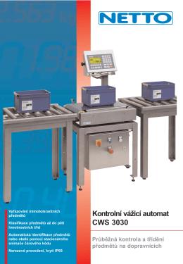 Kontrolní vážicí automat CWS 3030