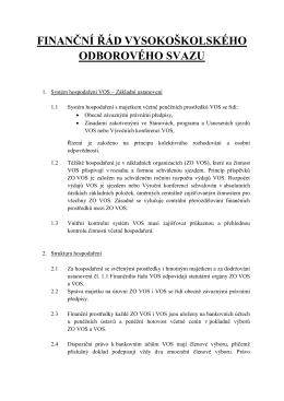 finanční řád vysokoškolského odborového svazu
