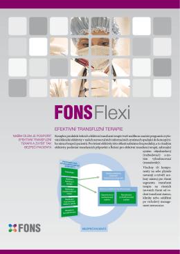 FONS Flexi Efektivní transfuzní terapie