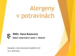 Vyšetřování alergenů v potravinách