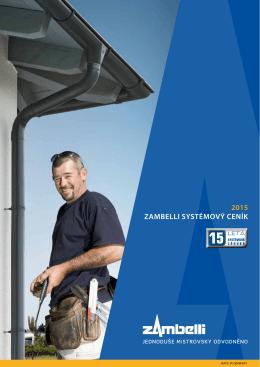 2015 ZAMBELLI SYSTÉMOVÝ CENÍK