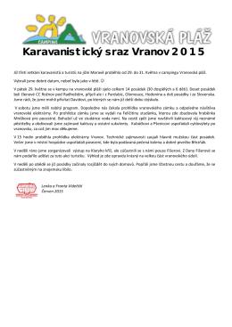 Karavanistický sraz Vranov 2015