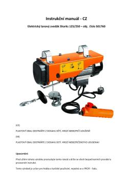Sharks elektrický lanový zvedák Sharks 125/250 230V | T