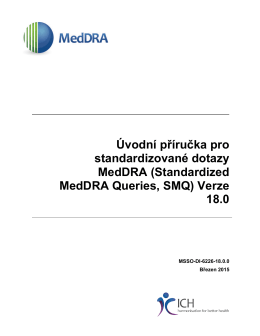 Standardized MedDRA Queries, SMQ