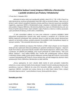 Tisková zpráva iniciativy k demonstraci 10. 11. 2015
