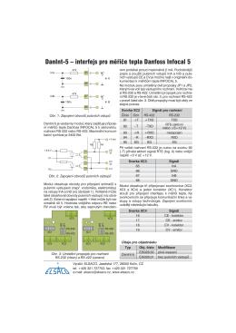 DanInt-5 – interfejs pro měřiče tepla Danfoss Infocal 5