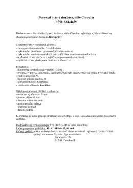 výběr řízení-1 - sbdchrudim.cz