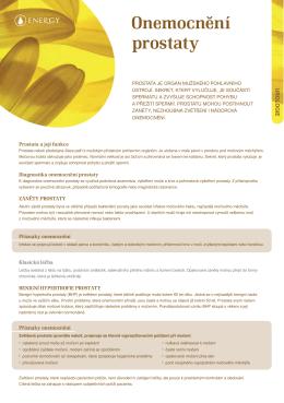 Onemocnění prostaty ()