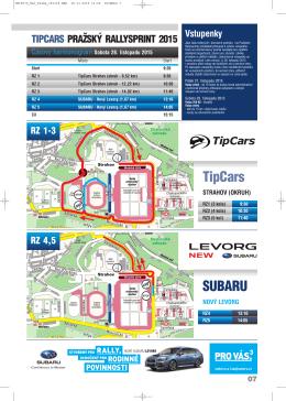 Mapy letošních RZ 2015 - Tipcars Pražský Rallysprint