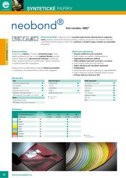 NEOBOND NEOBOND - europapier.com