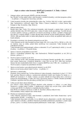 Zápis z valné hromady 15. 4. 2015