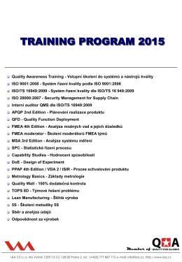 Školící program 2015 ve formátu PDF