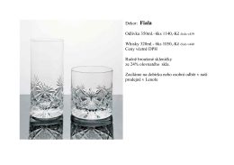 Dekor: Fiala Odlivka 350ml.–6ks 1140,