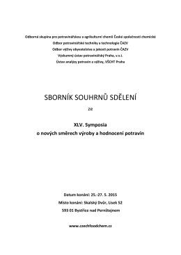 Sborník souhrnů příspěvků - Symposium o nových směrech výroby a