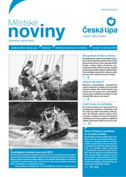 7,8/2015 Červenec, Srpen - Městské noviny Česká Lípa