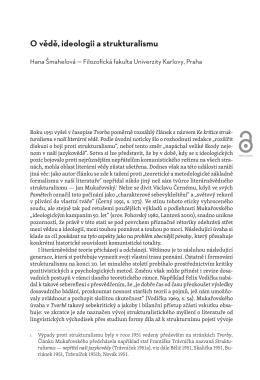 O vědě, ideologii a strukturalismu