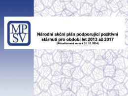 Národní akční plán podporující pozitivní stárnutí pro období let 2013