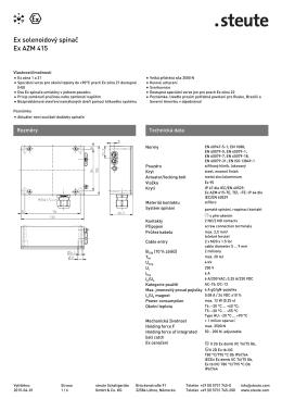 Ex solenoidový spínač Ex AZM 415 - REM