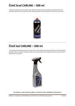 Čistič brzd CARLINE – 500 ml