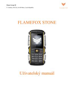 FLAMEFOX STONE Uživatelský manuál