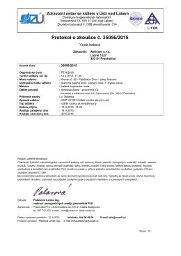 Protokol o zkoušce č. 35056/2015